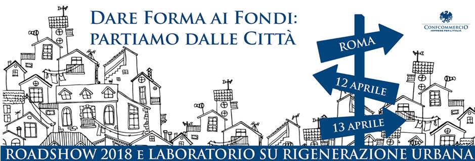 Fondi UE e Rigenerazione Urbana: ripartono i roadshow Confcommercio il 12 e 13 aprile logo