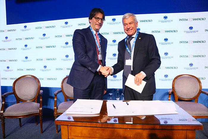 Intesa Sanpaolo e Confcommercio: un nuovo accordo per il sostegno finanziario alle Pmi logo